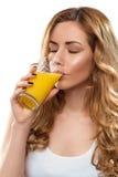 妇女用汁液 库存图片
