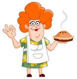 妇女用饼 免版税库存照片