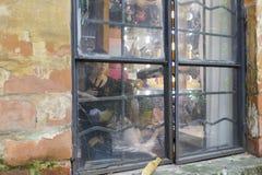 妇女电烫和构成在redtory创造性的公园,广州市,瓷演播室  库存图片