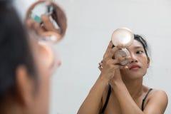 妇女画象作为申请构成的 图库摄影