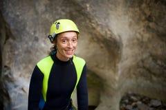 妇女画象峡谷在比利牛斯,西班牙 图库摄影