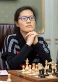 妇女的世界棋冠军2016年利沃夫州 库存图片