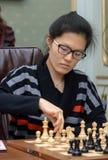妇女的世界棋冠军2016年利沃夫州 库存照片