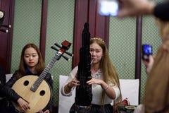 妇女的乐队 免版税库存图片