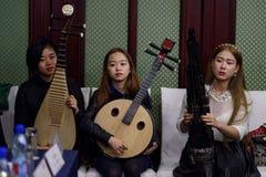 妇女的乐队 图库摄影