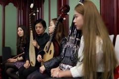 妇女的乐队 免版税图库摄影