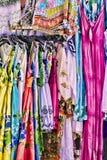 妇女的五颜六色的夏天礼服 库存图片