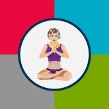 妇女的俱乐部的瑜伽infographics, EPS 10 库存图片