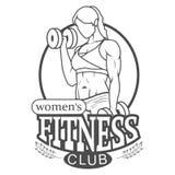 妇女的健身俱乐部商标 库存照片