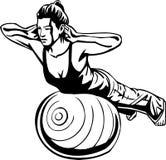 妇女的健身-传染媒介例证。 免版税库存图片