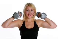 妇女的健身 库存照片