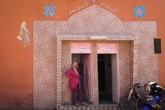 妇女的公共厕所 瓦尔扎扎特 摩洛哥 库存照片