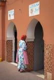 妇女的公共厕所 马拉喀什 摩洛哥 库存照片
