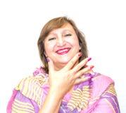 妇女的化妆用品的不可思议的颜色 免版税库存图片