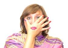 妇女的化妆用品的不可思议的颜色 库存图片