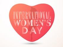 妇女的天庆祝的创造性的心脏 库存照片