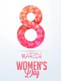 妇女的天庆祝的创造性的文本 免版税库存照片
