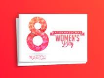 妇女的天庆祝的贺卡 免版税图库摄影