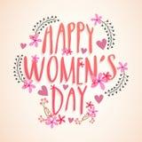 妇女的天庆祝的贺卡 免版税库存照片