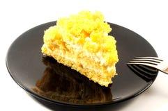 妇女的庆祝的含羞草蛋糕 库存照片