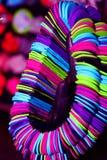 妇女的手工制造小珠 免版税库存图片