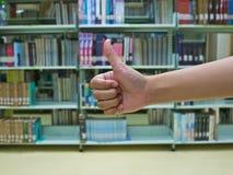从妇女的拇指 免版税库存照片