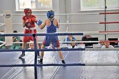妇女的拳击 免版税库存照片