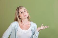妇女的掌上型计算机 免版税图库摄影