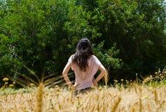 妇女的景色 免版税库存照片