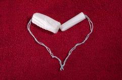 妇女的棉塞的心脏 免版税库存图片