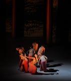妇女的欲望现代芭蕾:中华的金莲花 免版税库存图片