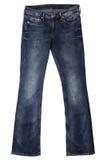 妇女的牛仔裤 免版税库存照片