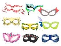 妇女的狂欢节面具 免版税图库摄影