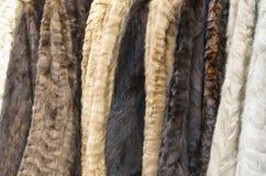 妇女的皮大衣 免版税库存照片