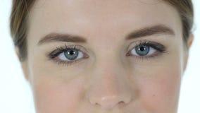 妇女的眨眼睛眼睛 影视素材