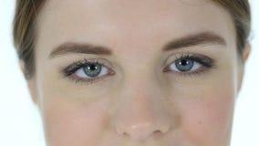 妇女的眨眼睛眼睛 免版税图库摄影