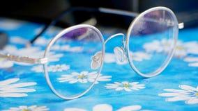 妇女的眼睛玻璃 免版税库存照片
