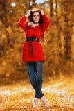 妇女的秋天时尚 库存照片
