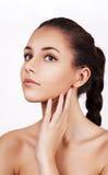 年轻妇女的美丽的面孔 免版税库存图片