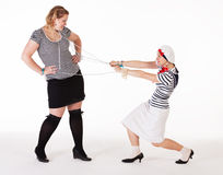 妇女的聚会的想法: 一条大鱼 免版税库存图片