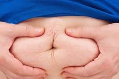 妇女的胃 免版税库存照片