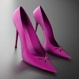 妇女的脚跟桃红色 免版税库存照片