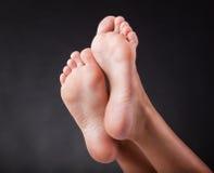 妇女的脚跟 库存图片