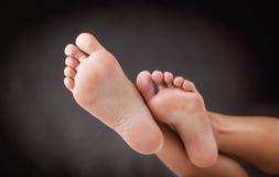 妇女的脚跟 库存照片