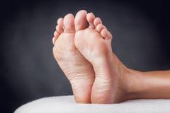 妇女的脚跟 图库摄影