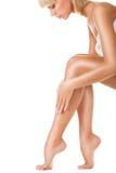 妇女的腿 免版税图库摄影