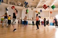 妇女的舞蹈课 图库摄影
