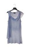 妇女的蓝色长袍 免版税图库摄影