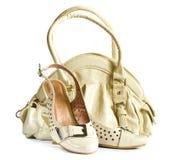 妇女的袋子和鞋子 库存图片
