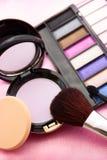 妇女的辅助部件-化妆背景 免版税库存图片
